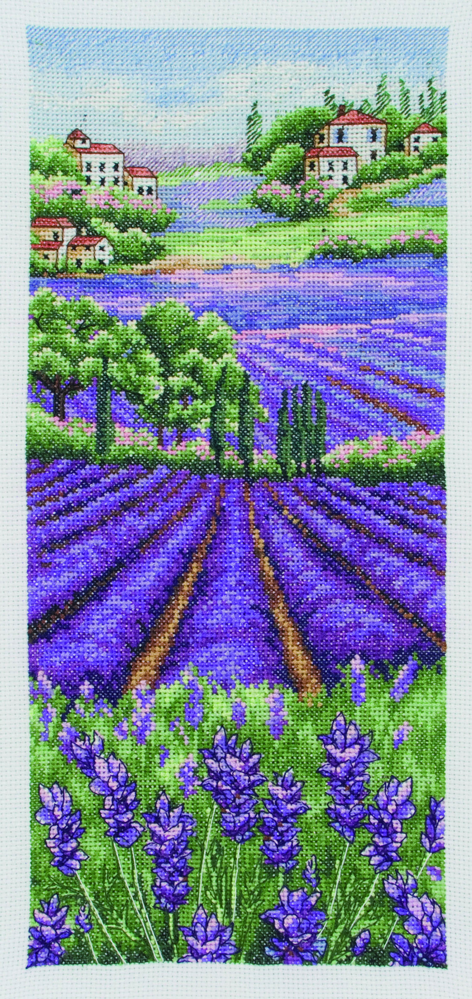 PCE0807  Anchor Cross StitchProvence Lavender Scape. Anchor. Набор для вышивания нитками