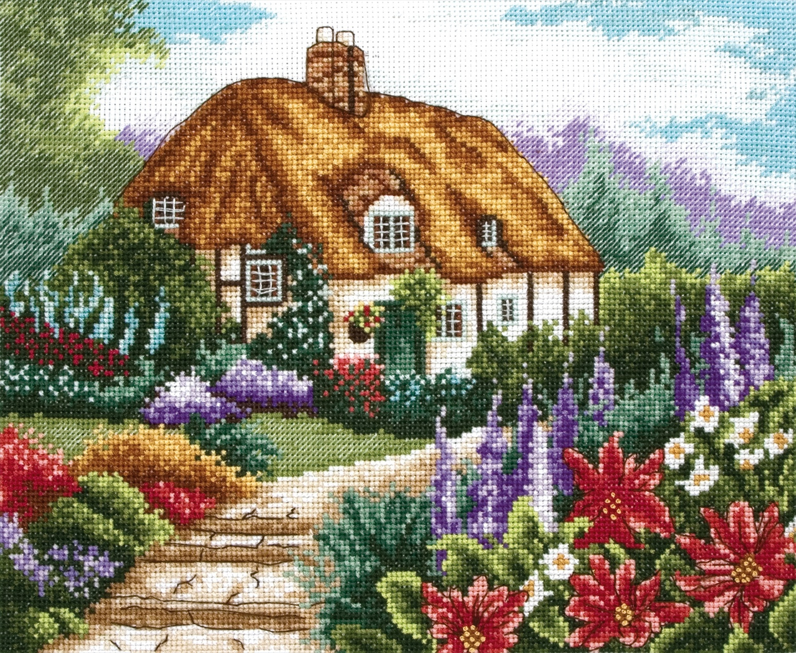 PCE593 Anchor CS - Cottage Garden In Bloom. Anchor. Набор для вышивания нитками