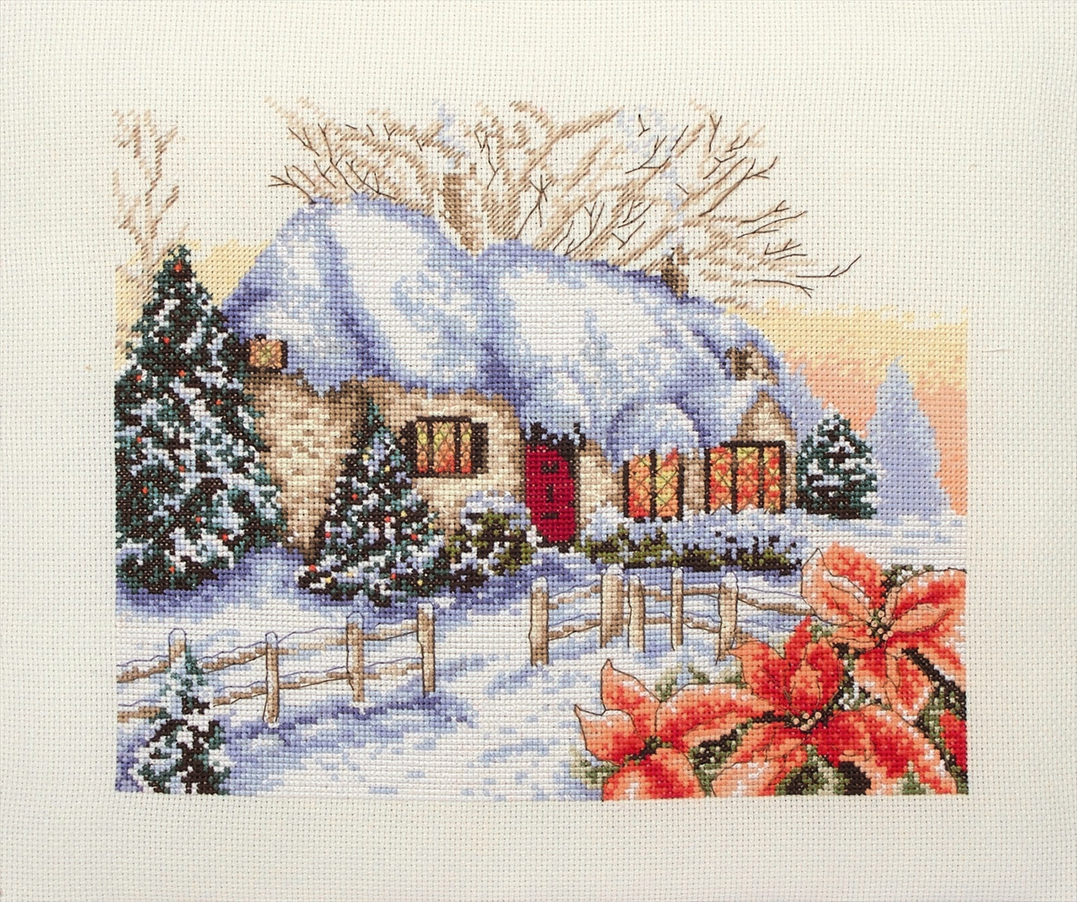 PCE594 Anchor Cross Stitch - Winter Cottage. Anchor. Набор для вышивания нитками