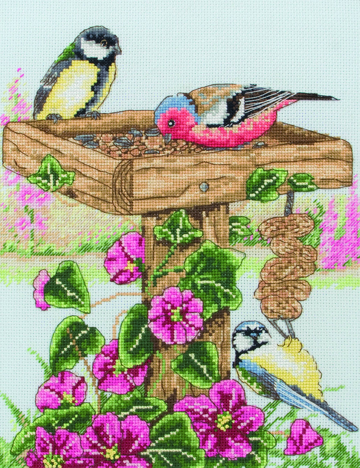 PCE743 Anchor Cross Stitch The Bird Table. Anchor. Набор для вышивания нитками
