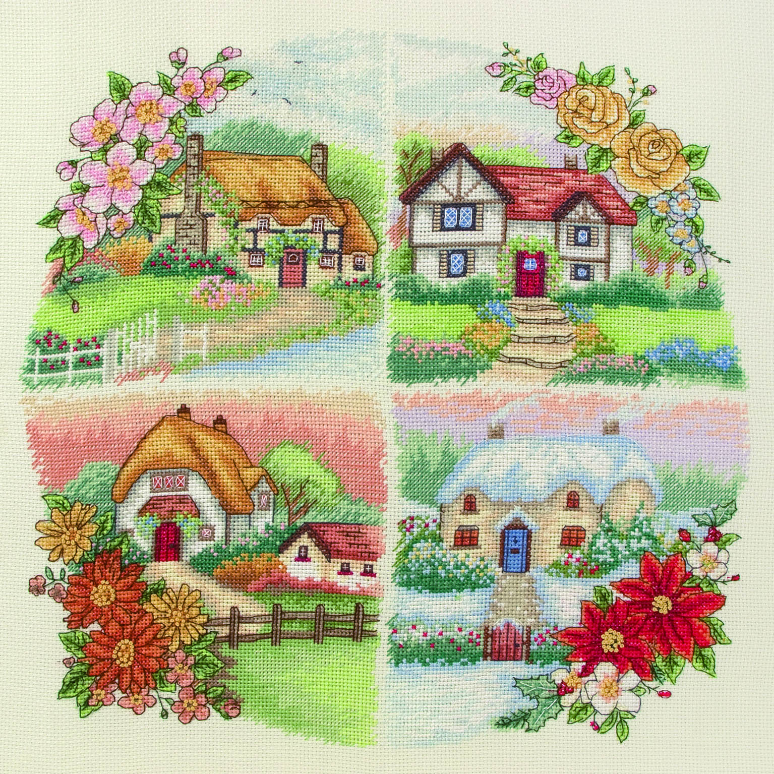 PCE750 Anchor Cross Stitch Penguins Seasonal Cottages. Anchor. Набор для вышивания нитками