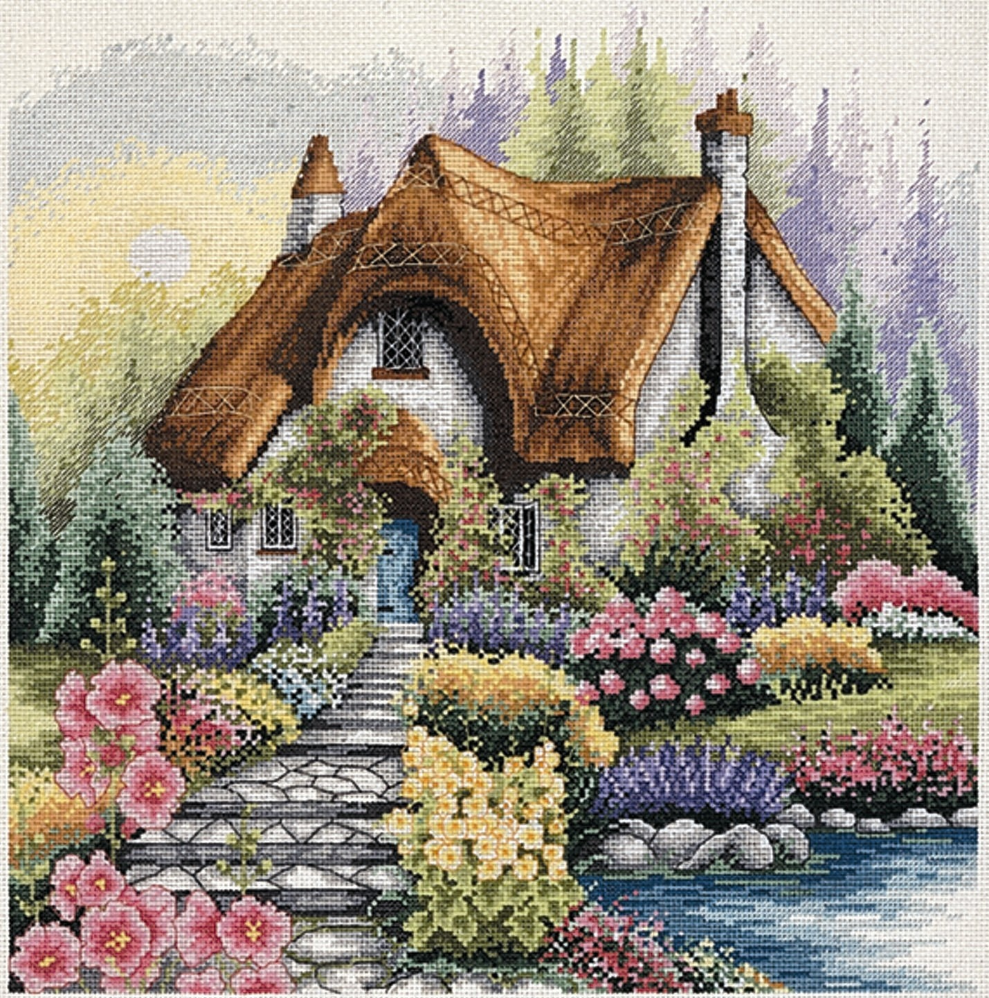 PCE922 Anchor Cross Stitch - Lakeside Cottage. Anchor. Набор для вышивания нитками