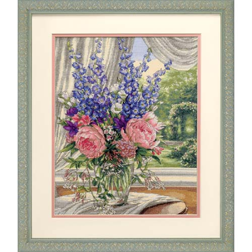 "35257 ""Пионы и дельфиниумы//Peonies and Delphiniums"" DIMENSIONS Gold Collection. DIMENSIONS. Набор для вышивания нитками"