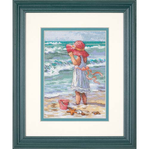 "65078 ""Девочка у берега//Girl at the Beach"" DIMENSIONS Gold Collection. DIMENSIONS. Набор для вышивания нитками"